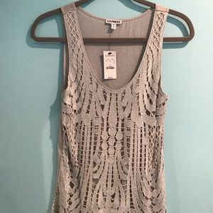 Brand New Silver/Grey Express tank top